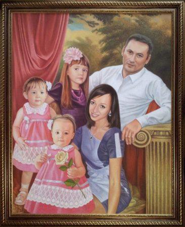 Семейный портрет маслом в Улан-Удэ — правильная традиция…