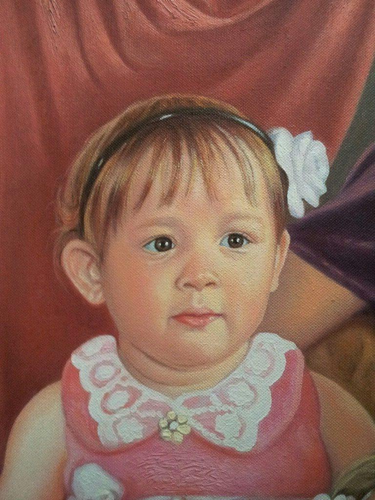 Портрет маслом семейный Улан-Удэ