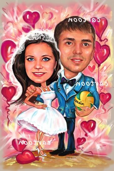 Свадебный шарж с оригинальным сюжетом в Улан-Удэ!