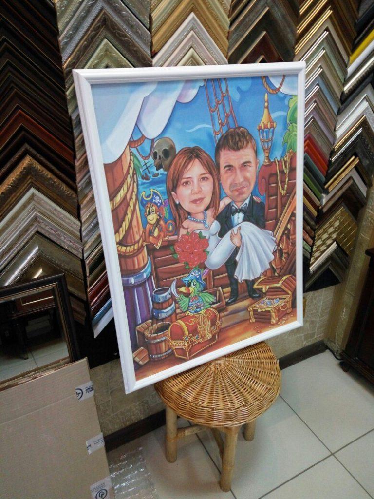 портрет шарж на заказ в Улан-Удэ