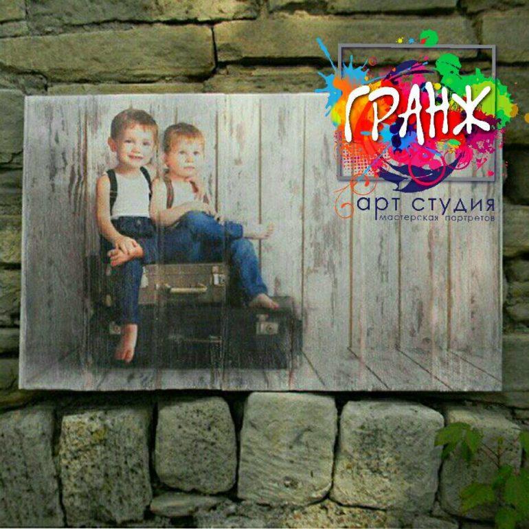 Картины на досках и портреты на дереве в стиле лофт на заказ купить