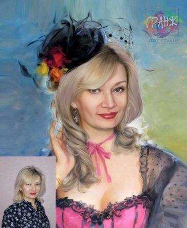 Заказать арт портрет по фото на холсте в Улан-Удэ…