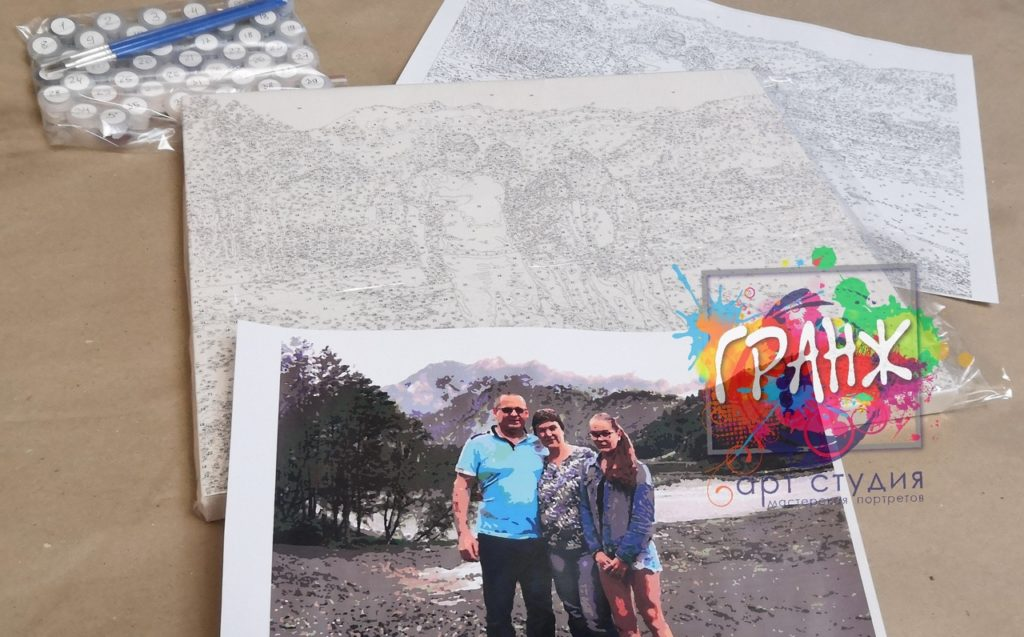 картин по номерам на холсте по фото в Улан-Удэ