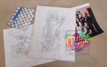 Картина по номерам по фото, портреты на холсте и дереве в Улан-Удэ